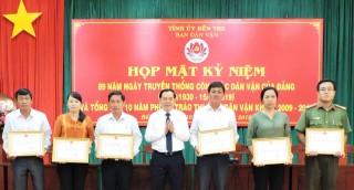 Kỷ niệm 89 năm Ngày truyền thống công tác dân vận của Đảng