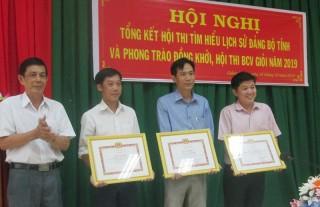 Trên 6,6 ngàn bài dự thi Tìm hiểu Lịch sử Đảng bộ tỉnh và phong trào Đồng khởi 1960
