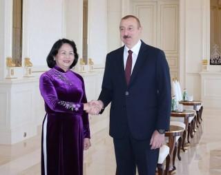 Phó chủ tịch nước Đặng Thị Ngọc Thịnh hội kiến Tổng thống Azerbaijan