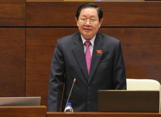 Bộ trưởng Nội vụ Lê Vĩnh Tân trả lời chất vấn