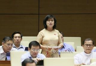 Đại biểu Nguyễn Thị Lệ Thủy chất vấn Bộ trưởng Bộ Thông tin và Truyền thông
