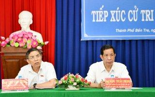 Đại biểu Quốc hội đơn vị tỉnh tiếp xúc cử tri tại TP. Bến Tre, Giồng Trôm và Ba Tri