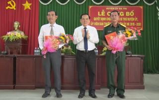Công bố Quyết định chuẩn y Phó bí thư Huyện ủy Ba Tri