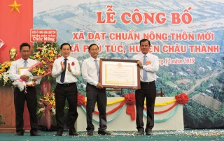Phú Túc được công nhận xã nông thôn mới