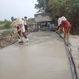 Thạnh Phước đầu tư hơn 11 tỷ đồng xây dựng cầu, đường nông thôn