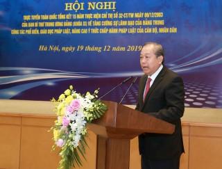 Phó Thủ tướng Thường trực chủ trì Hội nghị toàn quốc tổng kết Chỉ thị số 32