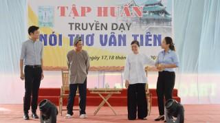 Tổ chức truyền dạy nghệ thuật nói thơ Vân Tiên