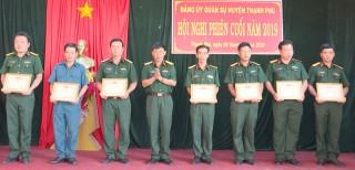 Đảng ủy Quân sự huyện Thạnh Phú hội nghị mở rộng