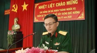 Giồng Trôm đón 175 thanh niên hoàn thành nghĩa vụ quân sự trở về địa phương