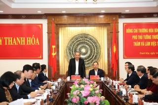 Phó Thủ tướng Thường trực: Đưa Thanh Hóa thành tỉnh công nghiệp vào năm 2030