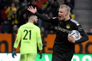 Augsburg 3-5 Dortmund: Haaland khởi đầu như mơ ở Dortmund với cú hat-trick được ghi trong 20 phút