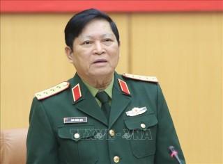 Bộ trưởng Bộ Quốc phòng Ngô Xuân Lịch làm việc với Bộ Tổng Tham mưu