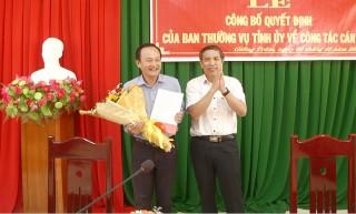 Lê Văn Nhân giữ chức vụ Phó bí thư Huyện ủy Giồng Trôm