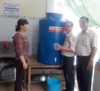 Bàn giao 5 máy lọc nước ngọt tại Giồng Trôm