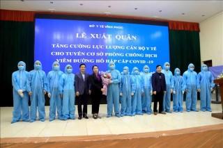 Vĩnh Phúc tăng cường 161 cán bộ y tế về huyện Bình Xuyên phòng, chống dịch COVID-19