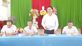 Thường trực Huyện ủy làm việc với Đảng ủy Thị trấn Thạnh Phú