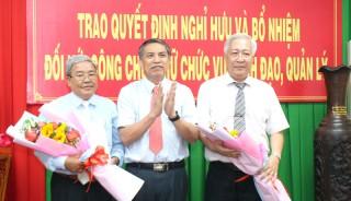 Trao quyết định nghỉ hưu và bổ nhiệm đối với công chức giữ chức vụ lãnh đạo, quản lý