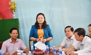 Tổ công tác hỗ trợ đại hội huyện điểm Mỏ Cày Bắc và xã điểm Tân Thanh Tây