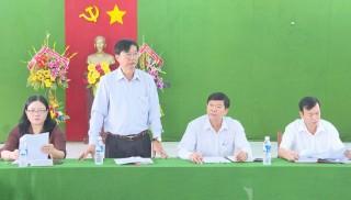 Huyện ủy Thạnh Phú làm việc với Đảng ủy xã An Thạnh