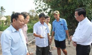 Khảo sát mô hình trữ nước ngọt phục vụ sản xuất tại huyện Chợ Lách