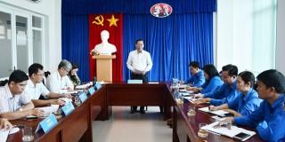 Bí thư Tỉnh ủy Phan Văn Mãi làm việc với Ban Thường vụ Tỉnh Đoàn