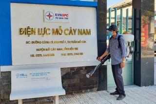 Điện lực Mỏ Cày Nam chung tay phòng chống dịch Covid-19