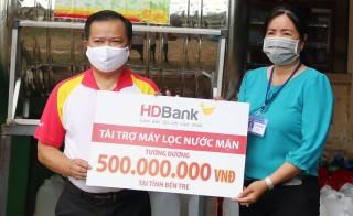 HDBank tặng 5 máy lọc nước cho tỉnh