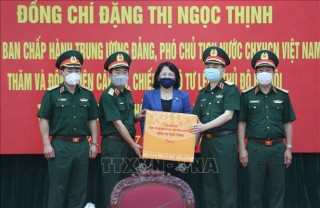 Phó Chủ tịch nước Đặng Thị Ngọc Thịnh thăm, động viên cán bộ, chiến sĩ Bộ Tư lệnh Thủ đô