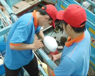 Bình Đại 523 tàu lắp đặt thiết bị giám sát hành trình