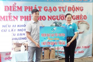 """Hỗ trợ máy """"ATM gạo"""" cho xã Phú Đức"""