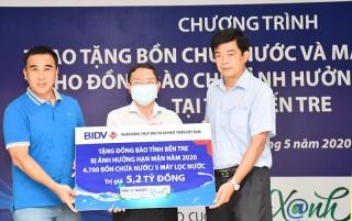 BIDV trao tặng 5 tỷ đồng hỗ trợ Bến Tre khắc phục hạn mặn