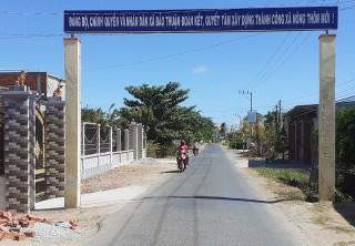 Bảo Thạnh quyết tâm xây dựng thành công nông thôn mới