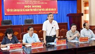 Tiếp xúc cử tri là lãnh đạo các cơ quan cấp tỉnh trước kỳ họp thứ 9, Quốc hội khóa XIV