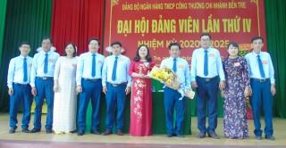 Đảng bộ Ngân hàng TMCP Công thương - Chi nhánh Bến Tre tổ chức Đại hội nhiệm kỳ 2020 - 2025