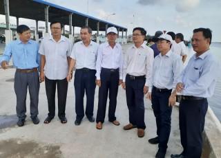 HĐND tỉnh giám sát dự án mở rộng cầu tàu Cảng cá tại huyện Bình Đại