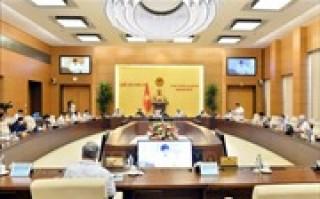 Phiên họp thứ 45 (đợt 2) của Ủy ban Thường vụ Quốc hội dự kiến diễn ra trong ngày 1-6-2020