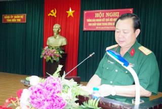 Đảng ủy Quân sự tỉnh thông báo nhanh kết quả Hội nghị lần thứ 12 Ban Chấp hành Trung ương Đảng