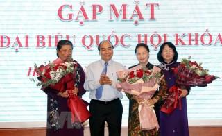 Thủ tướng, Chủ tịch Quốc hội dự cuộc gặp mặt nữ đại biểu Quốc hội