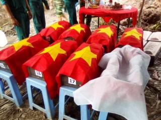 Tìm được nhiều hài cốt liệt sĩ ở xã Phước Thạnh huyện Châu Thành