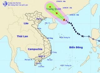 Trong 12 giờ tới, bão số 1 đi vào đất liền suy yếu thành áp thấp nhiệt đới