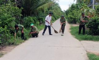 Chi hội Cựu chiến binh ấp Hồ Sen nhiệt tình đóng góp xây dựng quê hương