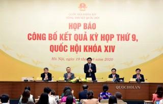 Họp báo công bố kết quả Kỳ họp thứ 9 Quốc hội khóa XIV