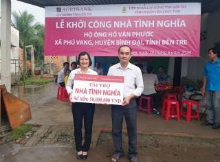 Công đoàn Viên chức tỉnh khởi công xây nhà tình nghĩa ở Phú Vang