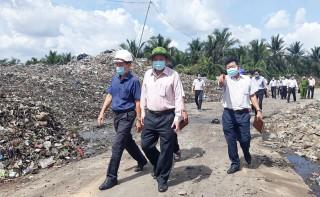 Kiểm tra tiến độ Nhà máy Xử lý rác thải Bến Tre