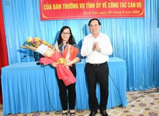 Ðồng chí Bùi Thị Huyền Trang giữ chức Phó bí thư Thường trực Huyện ủy Bình Ðại