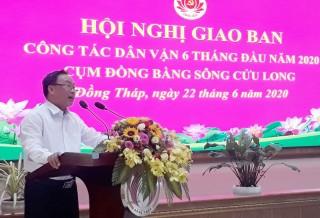 Giao ban 6 tháng công tác dân vận cụm đồng bằng sông Cửu Long