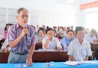 Đại biểu Quốc hội tiếp xúc cử tri huyện Thạnh Phú, Ba Tri