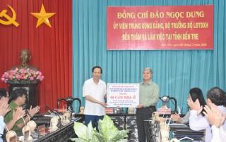 Bộ trưởng Bộ Lao động - Thương binh và Xã hội thăm và làm việc tại tỉnh Bến Tre