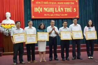 Đảng ủy Khối Cơ quan - Doanh nghiệp tỉnh sơ kết 6 tháng đầu năm 2020