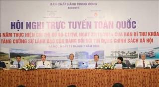 Sơ kết 5 năm Chỉ thị 40-CT/TW về tăng cường sự lãnh đạo của Đảng đối với tín dụng CSXH